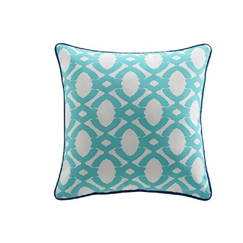 VCNY Home Clairebella Oggi Throw Pillow Pack of 2 (18x18 each) Turqoise