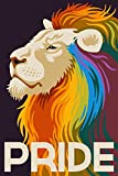 Gay Pride - Lion (12x18 Fine Art Print, Home Wall Decor Artwork Poster)