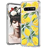 MOSNOVO Galaxy S10 Case, Lemon Printed Pattern Clear Design Transparent Plastic Hard Back Case with TPU Bumper Protective Case Cover for Samsung Galaxy S10