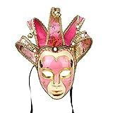 Full Face Venetian Jolly & Jester Mask Masquerade Mardi Gras Wall Decorative Art Collection