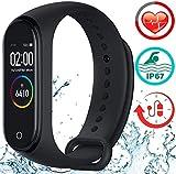 Smartwatch mit Pulsmesser Fitness Armband Armbanduhr Sportuhr mit Schrittzähler Kalorienzähler