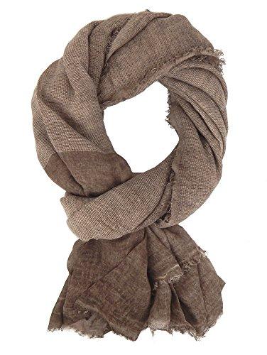 Ella Jonte Écharpes foulard d'homme élégant et tendance de la dernière collection by Casual-style marron coton