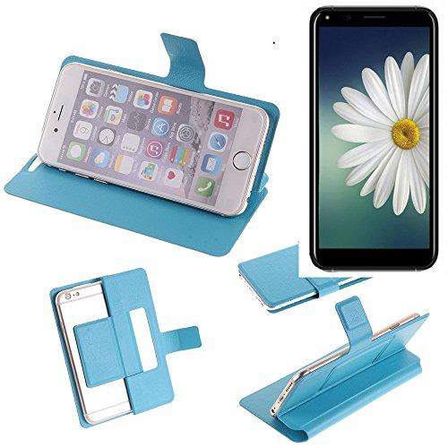 K-S-Trade® Flipcover Für Doogee X53 Schutz Hülle Schutzhülle Flip Cover Handy Case Smartphone Handyhülle Blau