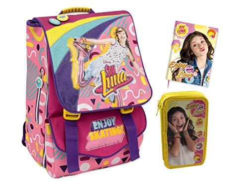 set scuola n1 Soy Luna Zaino Estensibile (YL923000) + Astuccio+Diario