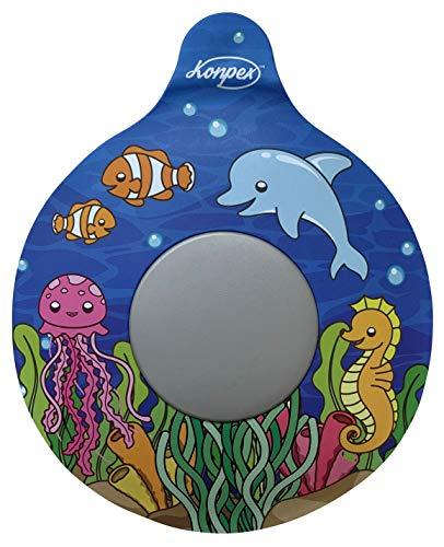 Konpex Bathtub Stopper, Adorable Tub Drain Stopper Plug, Universal Silicone Bath Drain Cover, Beautiful Coral Reef Illustration, Kids Tots Babies Gift