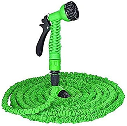 Ardith 50 Ft Expandable Hose Pipe Nozzle for Garden Wash Car Bike with Spray Gun and 7 Adjustable Modes Magic Flexible Water Hose Plastic Hoses Pipe with Spray Gun to Watering Washing Cars