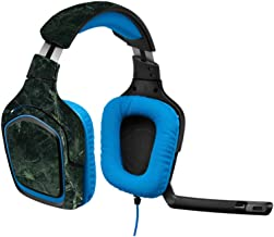 MightySkins Skin Compatible with Logitech G430 Gaming Headset - Green Marble   Protective, Durable, and Unique Vinyl Decal wrap Cover   Easy to Apply, Remove, and Change Styles   Made in The USA