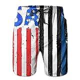 Jiger American-flag-usa-vector-17959289 Surfing Pocket Elastic Waist Men's Beach Pants Shorts Beach Shorts Swim TrunksM