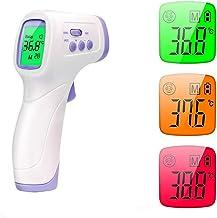 NLRHH Herramienta de Temperatura de la Frente, Ninguna Pistola de medición de Temperatura Profesional de Alta precisión infrarroja Digital, Ideal para bebé, niño, Adulto Peng (Color : Multicolor)