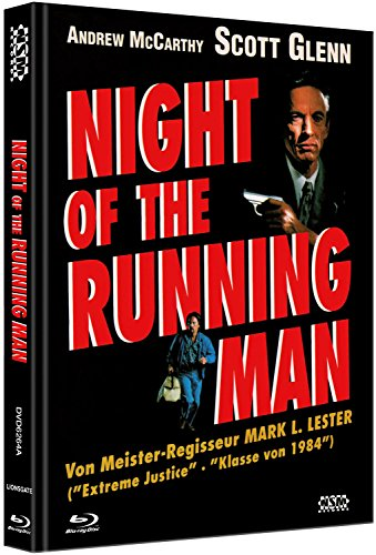 Night of the running Man - uncut (Blu-Ray+DVD) auf 333 limitiertes Mediabook Cover A [Limited Collector's Edition]