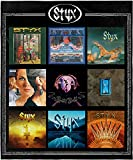 INTIMO Styx Blanket Album Collection Rock and Roll Music Band Super Soft Fleece Throw Blanket 48' x 60' (122cm x152cm)