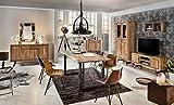 Junado Baumkantentisch Quarto 160 x 85 cm aus Akazie-Holz naturfarben, Esszimmertisch mit schwarz lackierten Beinen, Baumtisch - 3