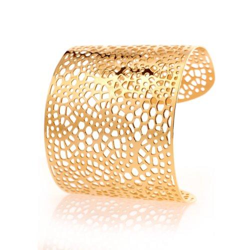 Karisma Frauen Edelstahl Armreif - Gelb Gold beschichtet- SB0345.RG-/Breite 55mm