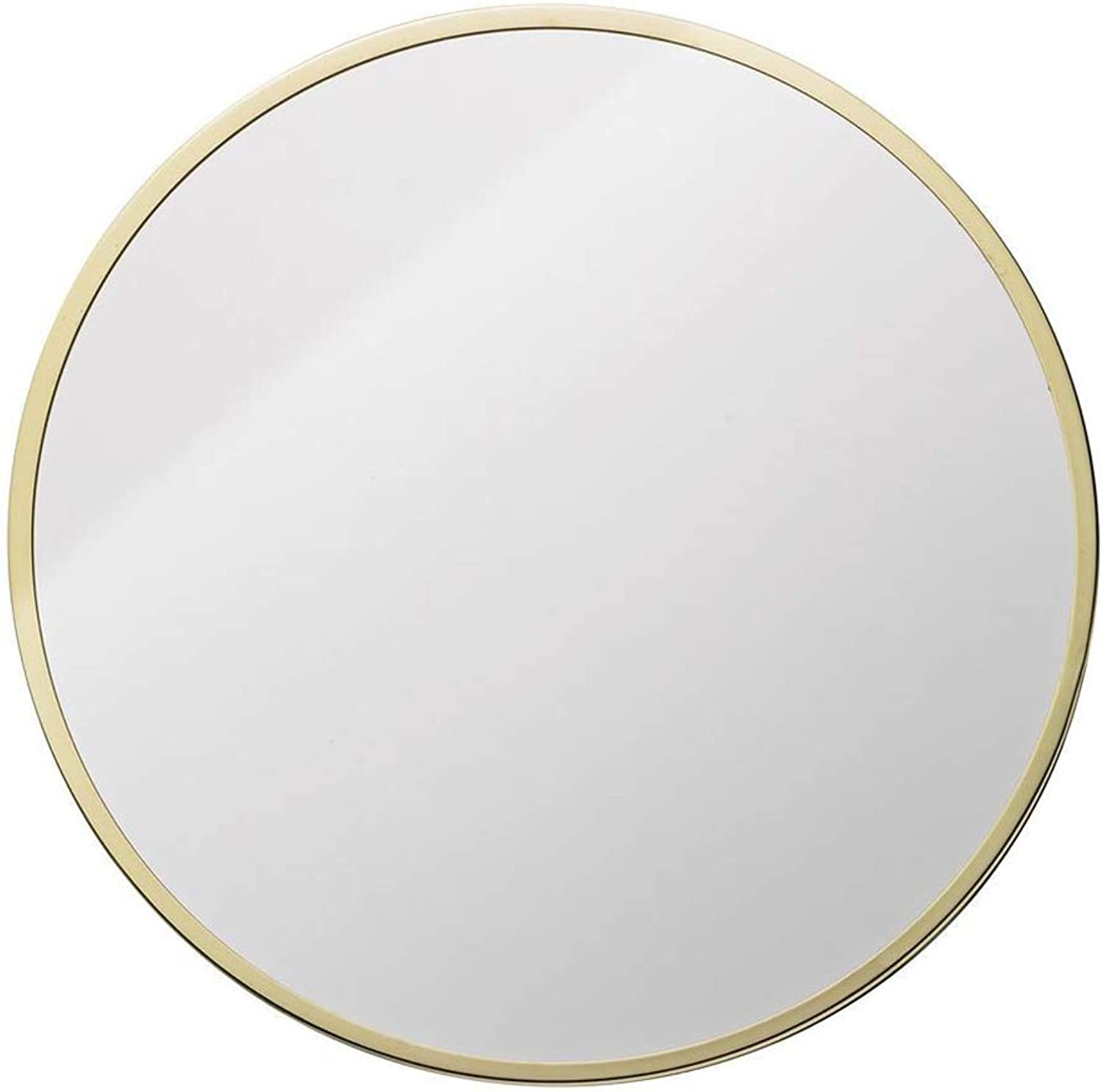 Mirror - Round Wall Mounted Bathroom Mirror, Home Metal Frame Mirror, Nordic Minimalist Style (color   gold, Size   50cm)