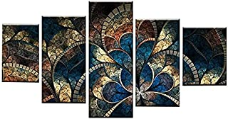 Xigeapg DIY Diamond Painting 5 Panel Fantasy Flowers for Living Room Home Decor 5D Diamond Embroidery Abstract Cross Stitch Kits