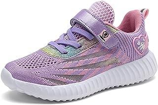 Basket Enfants Filles Chaussures de Sport Antidérapantes Filles Sneakers Respirant pour Fille