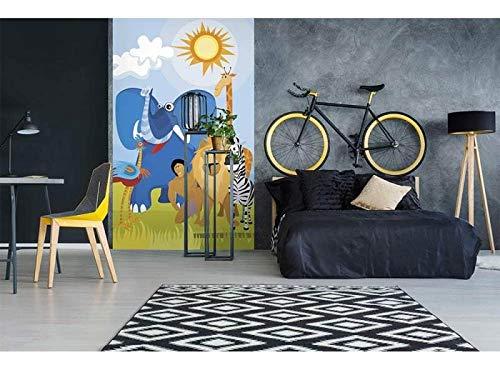 Vlies Fotobehang AFRIKA DIEREN | Niet-Geweven Foto Mural | Wall Mural - Behang - Reusachtige Wandposter | Premium Kwaliteit - Gemaakt in de EU | 150 cm x 250 cm