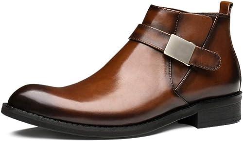 chaussuresDQ Chaussures habillées Formelles en Cuir pour Hommes Chaussures habillées Confortables, de Style Britannique Classique et Confortable