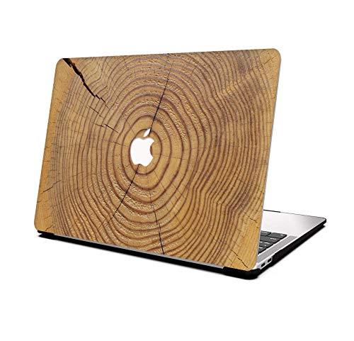 AOGGY Funda MacBook Pro 13 Pulgadas 2020 Versión A2338 M1/A2289/A2251,Wood Pattern Plastico Cáscara Dura Case para 2020 MacBook Pro 13 Pulgadas con Touch Bar y Touch ID - Grano de Madera 15