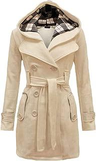ZEVONDA Women's Winter Double Breasted Vintage Trench Coat