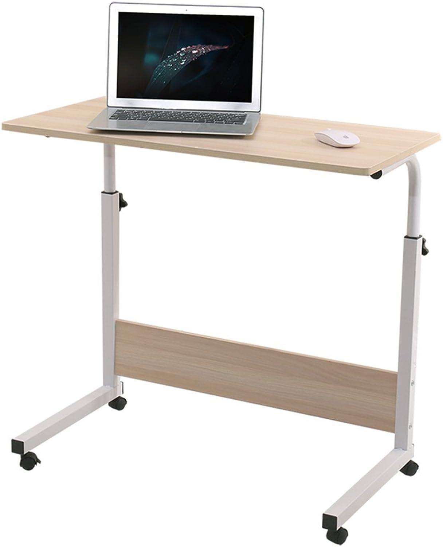 ZHIRONG Mobile Laptop Table Adjustable Height Bedside Table Desktop Computer Desk (Size   60  40cm)