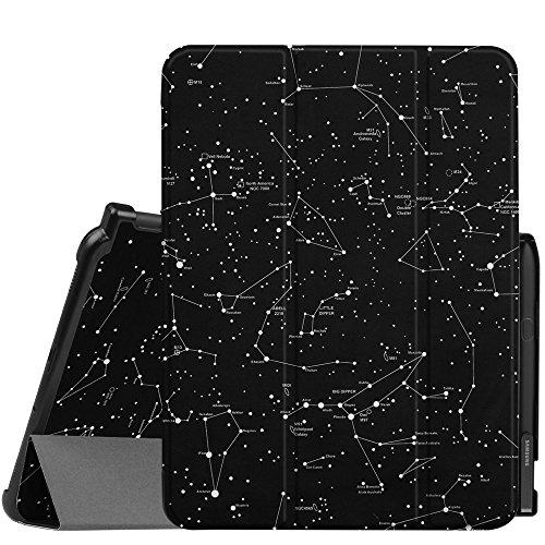 Fintie Funda para Samsung Galaxy Tab S3 9.7 con Portalápiz para S Pen - Súper Delgada y Ligera Carcasa con Función de Auto- Reposo/Activación para Modelo SM-T820/T825, Constelación