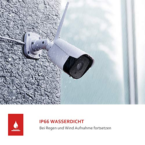 [2021 aktualisierte] Victure 1080P Metallgehäuse Überwachungskamera Aussen,2.4GHz WLAN IP Kamera mit IP66 wasserdicht Zwei Wege Audio,Bewegungserkennung und Klangerkennung,Victure Home APP