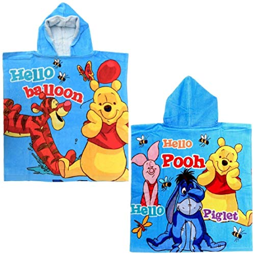 for-collectors-only Winnie Puuh Poncho Hello Balloon Handtuch Disney Kinder Badetuch Strandtuch Beach Towel Winnie The Pooh Badeponcho