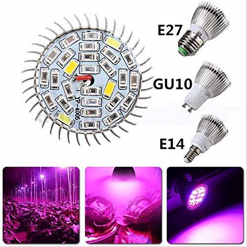 LED Pflanzenlampe,XUNATA 18W GU10 LED Vollspektrum Grow Light Wachstumslampe LED Wachstumslampe Pflanzenlicht für Zimmerpflanzen Gemüse und Blumen (GU10, 18W)
