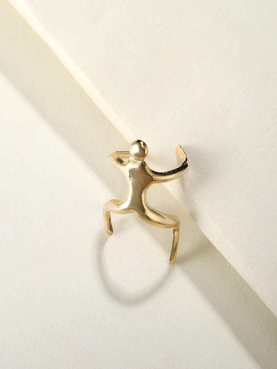 frenma Hoop Earrings Creative Ear Cuff (Color : Gold)