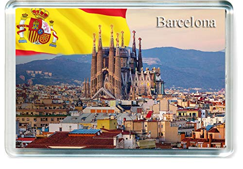 H227 Barcelona Imán para Nevera Spain Travel Fridge Magnet