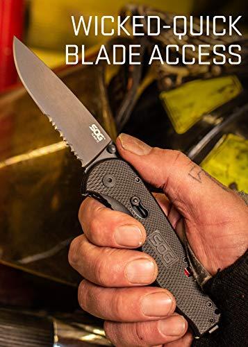 SOG TFSA98-CP Flash II 8 in Black EDC Pocket Knife