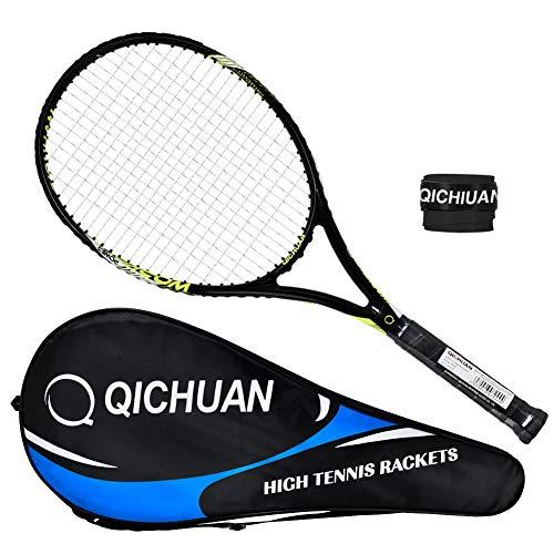 Whizz QICHUAN Damen/Herren Erwachsene 27 Tennisschläger, 280g, 100% Graphit (Schwarz)