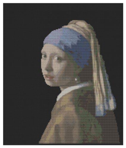 Meisje met een Parel Oorbel - Cross Stitch Kit