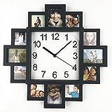 Reloj de pared con marco de bricolaje, estilo TimeLike DIY con diseño moderno y marco de fotos, reloj de plástico con imágenes artísticas de Klok para decoración del hogar