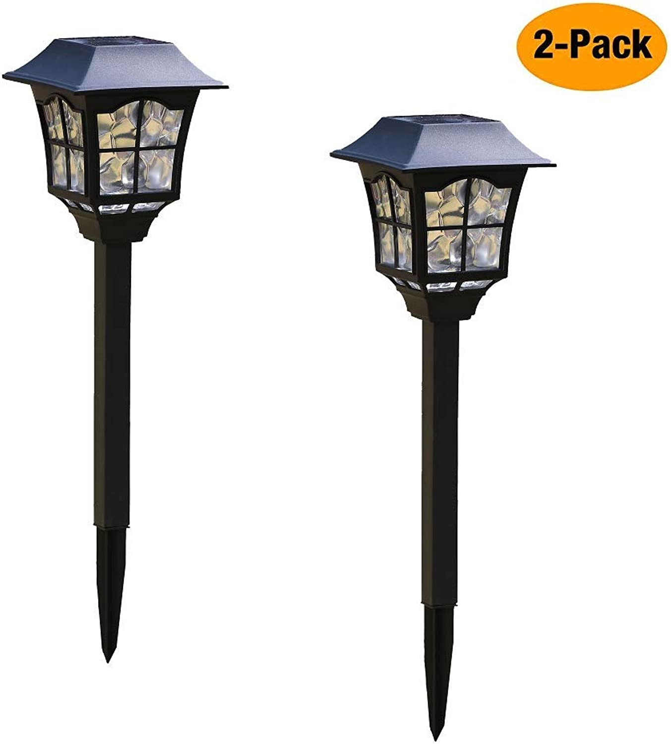 Sunpo Solar Pathway Lights Outdoor or Solar Lights Outdoor or Solar Garden Lights or Solar Landscape Lights or Solar Lights for Yard Patio Walkway Driveway Lawn dcor (2)