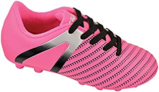 Vizari Unisex Impact FG Soccer Shoe, Pink/Silver, 4.5 Regular US Big Kid