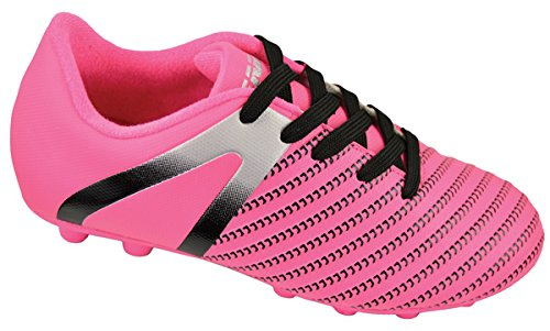 Vizari Baby Impact FG Soccer Shoe, Pink/Silver, 9 Regular US Toddler