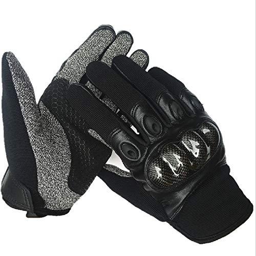 Liaiqing Outdoor Tactical Handschoenen Mannen en vrouwen vol vinger handschoenen Carbon Fiber Shell Anti-fall Handschoenen Microfiber Sports Handschoenen Grade 5 Snijbestendige handschoenen Silicone A