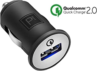 Platinum Quick Charge Black Car Charger 12v with Qualcomm 2.0 - PT-DC1USQC