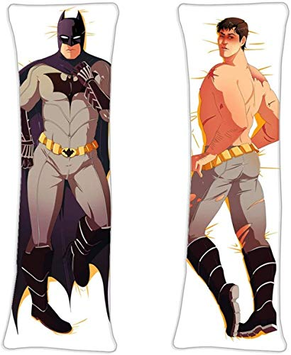 Yocped Detective DC Comics Batman Japan Anime Body Pillowcase 2w Two Way Tricot 59x19 6in Double Sided Throw Pillow Case Hug Cushion Cover