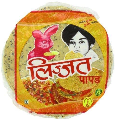 Lijjat - Papadam mit Punjabi Masala-Geschmack - 3 x 200 g