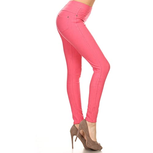 9499299dfa Leggings Depot Premium Quality Jeggings Regular and Plus Soft Cotton Blend  Stretch Jean Leggings Pants w