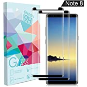 Galaxy Note 8 Screen Protector, [No Bubble][9H Hardness] [Anti-Scratch][Case-Friendly] Tempered Glass Screen Protector Compatible Samsung Galaxy Note 8