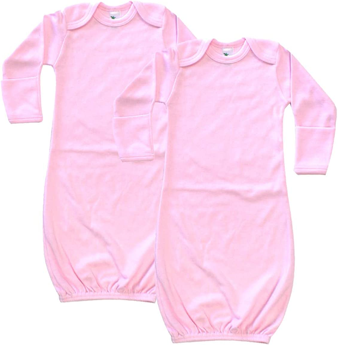 Laughing Giraffe Baby Long Sleeve Sleeper Gown with Mittens 0-3M (2-PACK)