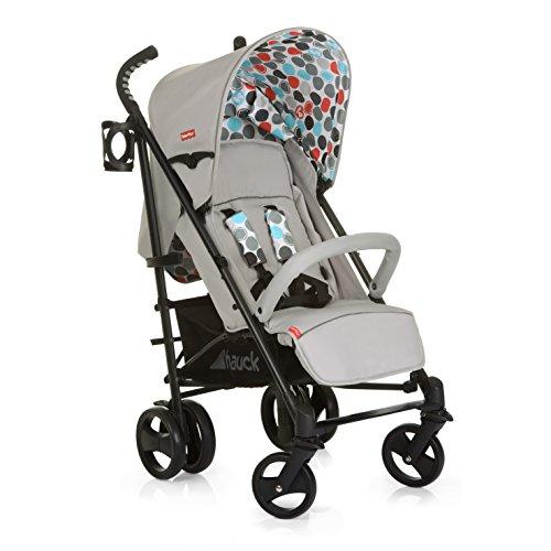 Hauck/Fisher Price Go-Guardian Venice Stroller/incl. Bottle Holder/extendable Canopy/Ergonomic Handles, Gumball Grey