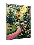 weewado August Macke - Nuestro jardín con Descuentos en Flor 60x80 cm Poster - Artists, Paintings, Photo, Image as Poster - Old Masters/Museum