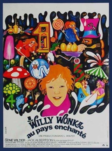 Willy Wonka y la fábrica de Chocolate–Póster de la película (27x 40Inches–69cm x 102cm) (1971) (francés estilo B) por decorativo pared Póster