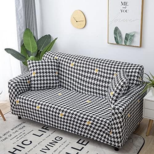 PPOS Fundas de sofá elásticas para sofá Universal elásticas a Cuadros Fundas de sofá elásticas para Sala de Estar Sofá Silla Funda de sofá Decoración para el hogar A8 Loveseat 145-185cm-1pc