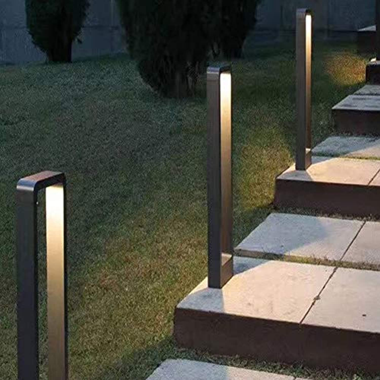 Vinmin Garten-Licht des modernen Design-LED, Garten-Pfosten-Licht im Freien, dekorative geführte Poller-Licht-Landschaft führte Rasen-Lichtquader,600mm